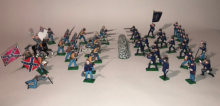 AMERICAN CIVIL WAR TOY SOLDIERS - 43 Pieces  Made by Trophy
