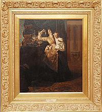 """PETER WILLEM SEBES, Dutch 1830-1906, """"Feeding"""