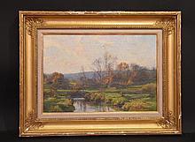Hugh Bolton Jones (American 1848 - 1927) River Landscape, oil on canvas, 15 x 21
