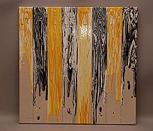 """Sigfredo Chacon (VENEZUELAN, 1950) acrylic on canvas, titled """"Painting"""" 23-3/4inches x 23-3/4inches (60 x 60cm)"""