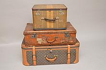Vintage Louis Vuitton soft sided large suitcase, worn