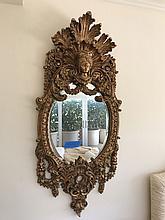 Pair faux gilded ornate mirrors (Styrofoam), 59