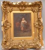 Camillo Innocenti (Italian, 1871–1961) oil on canvas, signed upper left, 6.5in. x  5in. frame is damaged and chipped, Camillo Innocenti, $150
