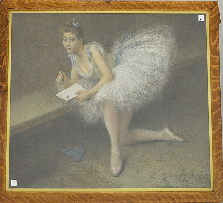 Pierre Carrier-Belleuse (French, 1851–1932) Pastel of Baller