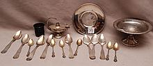 Assorted pieces of sterling, flatware and hollowware, 16ozt
