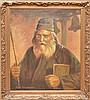John Henderson oil on canvas, Portrait Rabbi, 24in. x 30in.