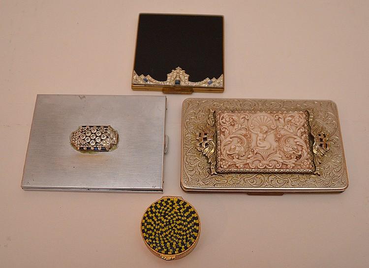 Lot 4 Boxes.  1 Evans Art Deco Cigarette Case 3