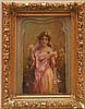 Hans Zatzka (Austrian, 1858-1945) young girl w/ veil, oil on canvas/board, 9-1/2in. x 6-1/2in.