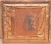 19th c. needlepoint in giltwood frame depicting a young girl, 28