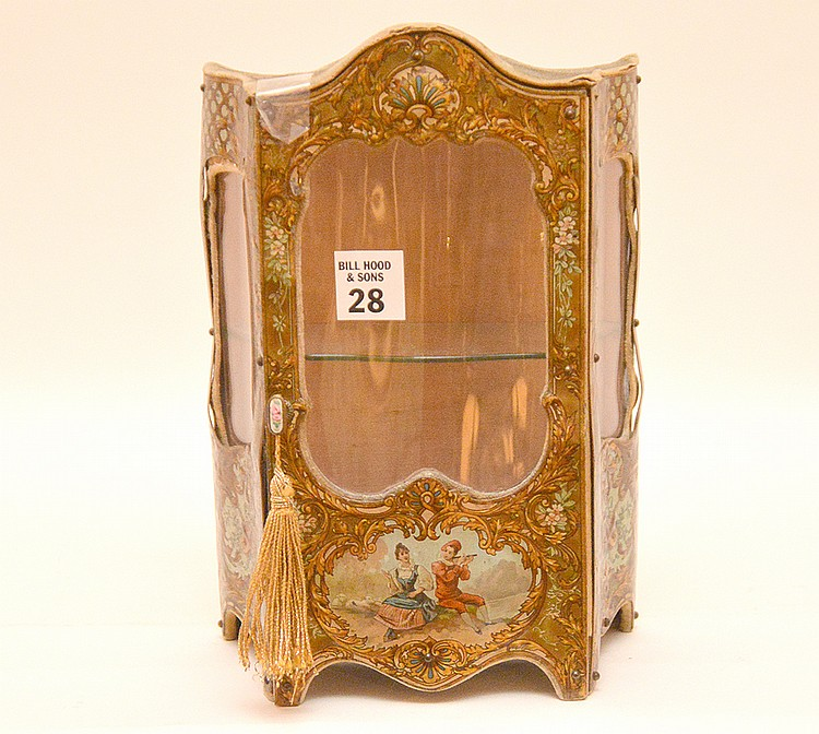 Miniature French Curio Cabinet possibly a salesman sample.  Ht. 10