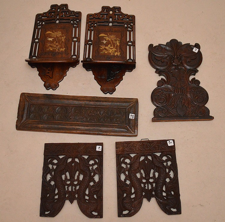 6pcs. Of carved wood