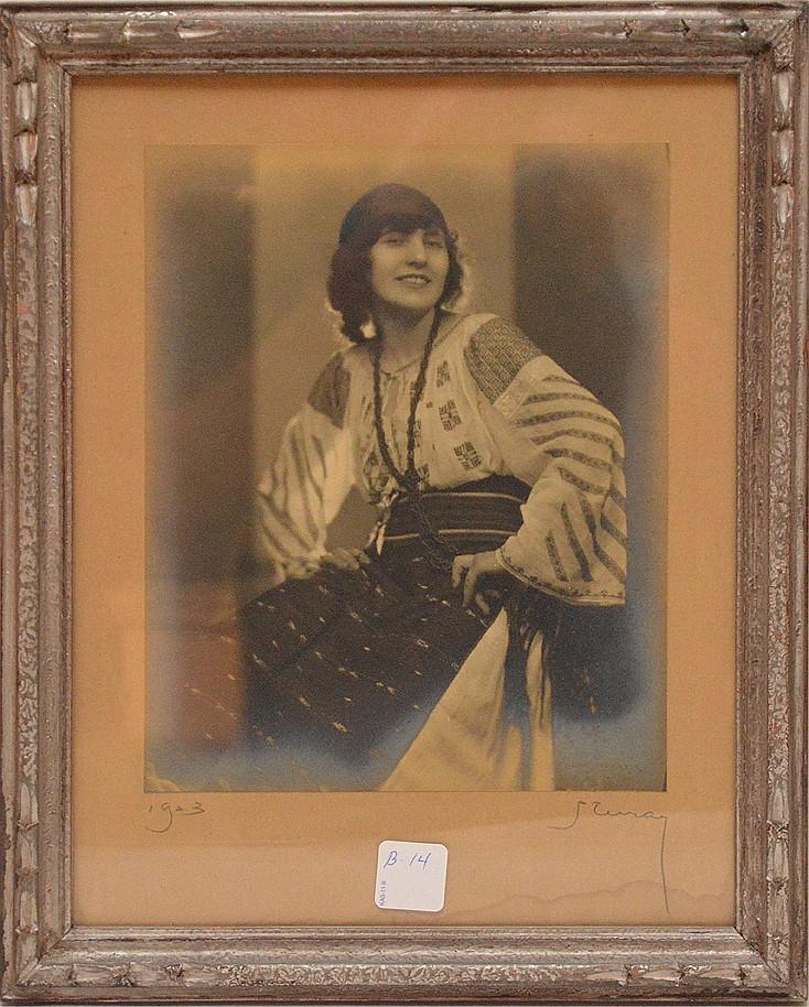 Nickolas Muray Photographer: (AMERICAN/HUNGARIAN, 1892-1965) Photo-Silver Gelitin Print -1923, 9-1/2in. x 7-1/2in.