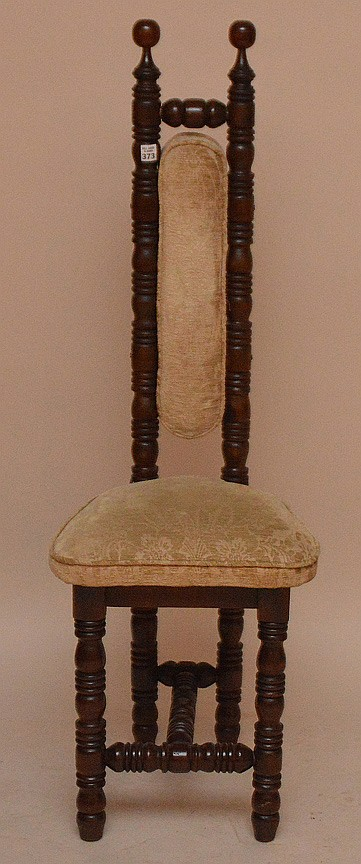 Continental carved slender back chair