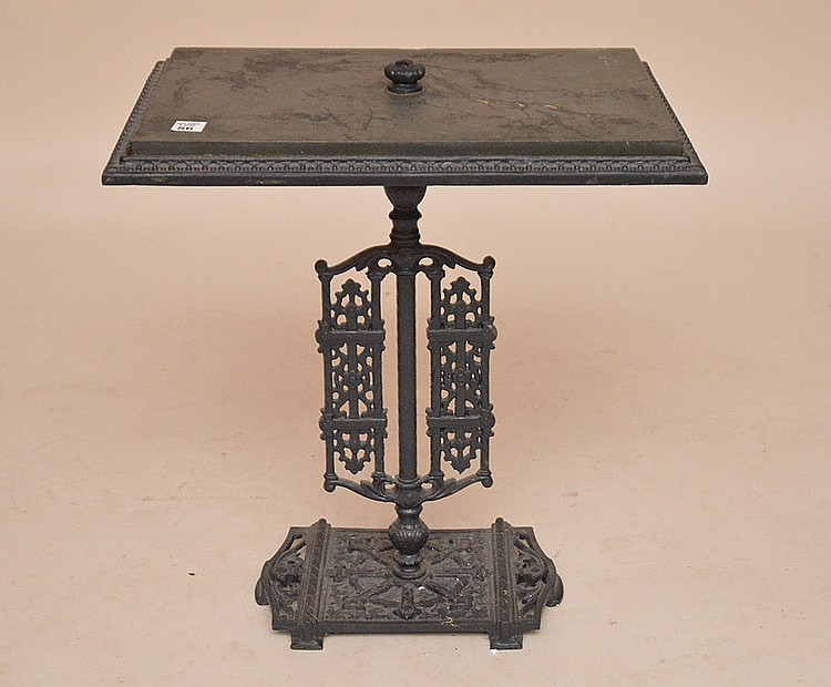 Victorian iron slate side table, 27