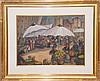 Nell Choate Jones (AMERICAN, 1879-1981) Mixed Media, flea market Nice, 18in. x 23in. Sight