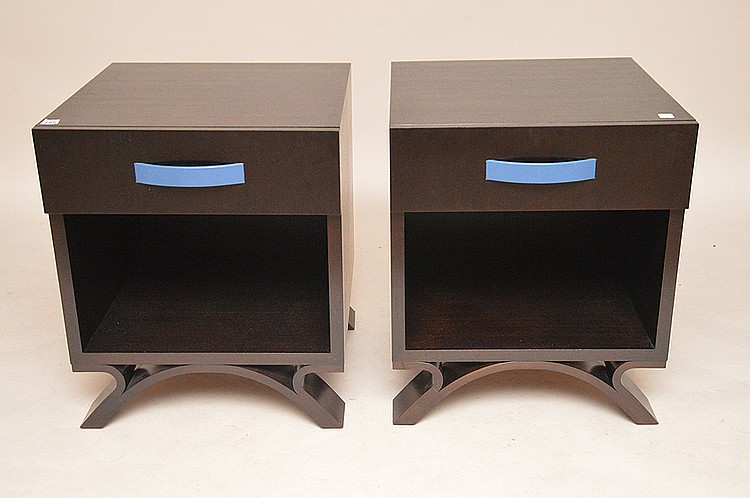 Pair end tables, matches above item, Dakota Jackson, 26
