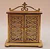 Wakmann Brass 8 Day Travel Clock.  Ht. 4 3/4