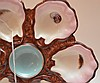 Set of 6 French porcelain oyster plates, 9