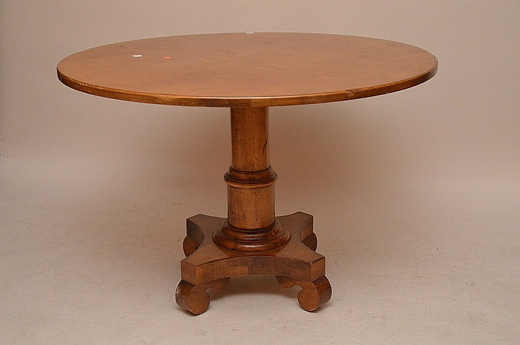 Fruitwood pedestal table, 30