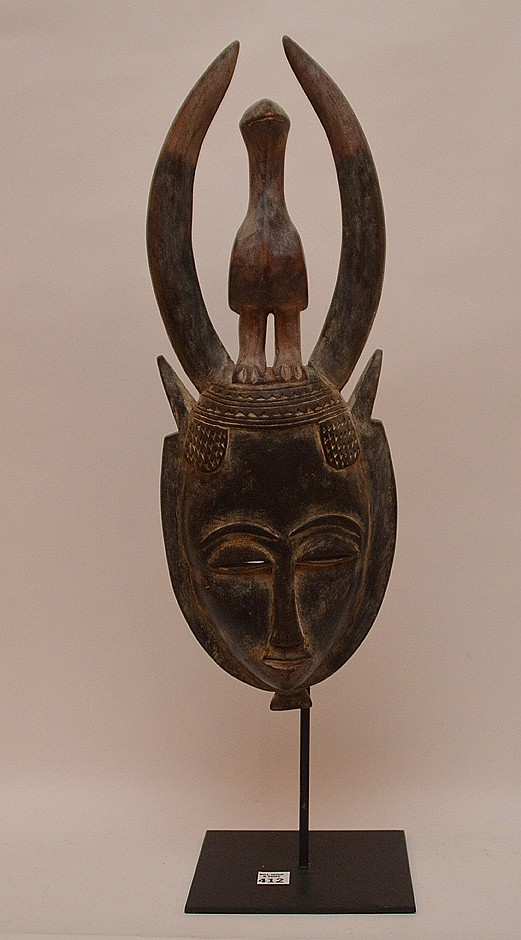 African mounted mask, 26