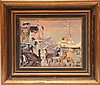 French School 20th Century Harbour Scene signed illegibly H. Cathay???, 8in. x 10in.