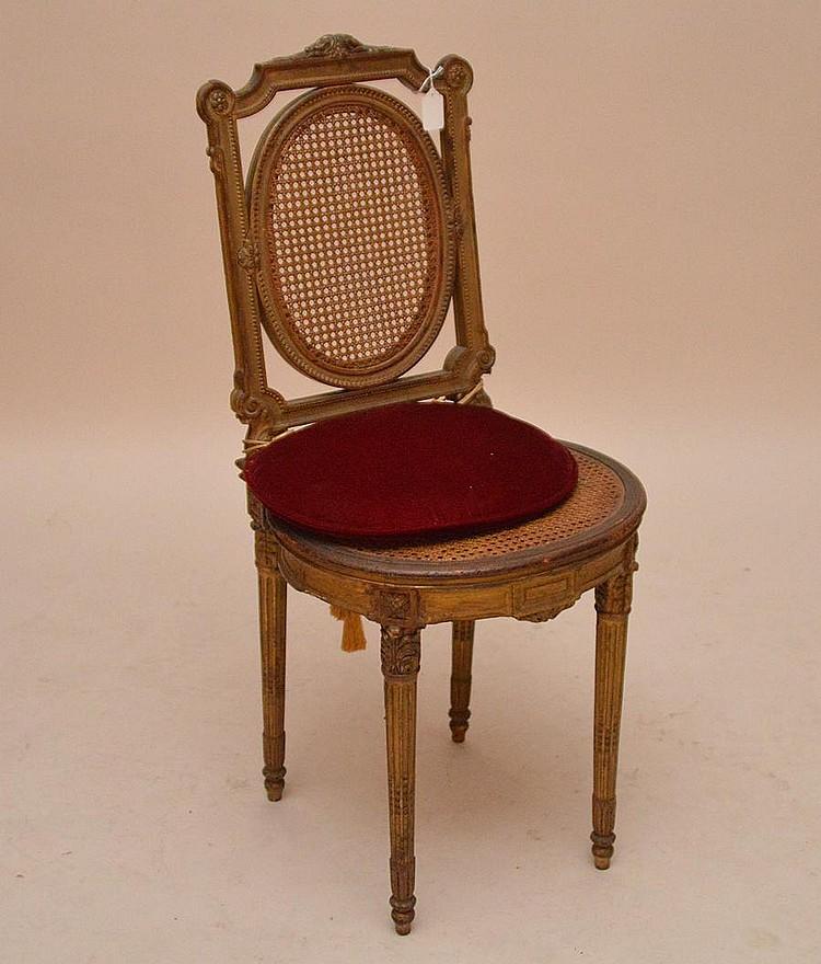 Chaise de boudoir, circa 1880