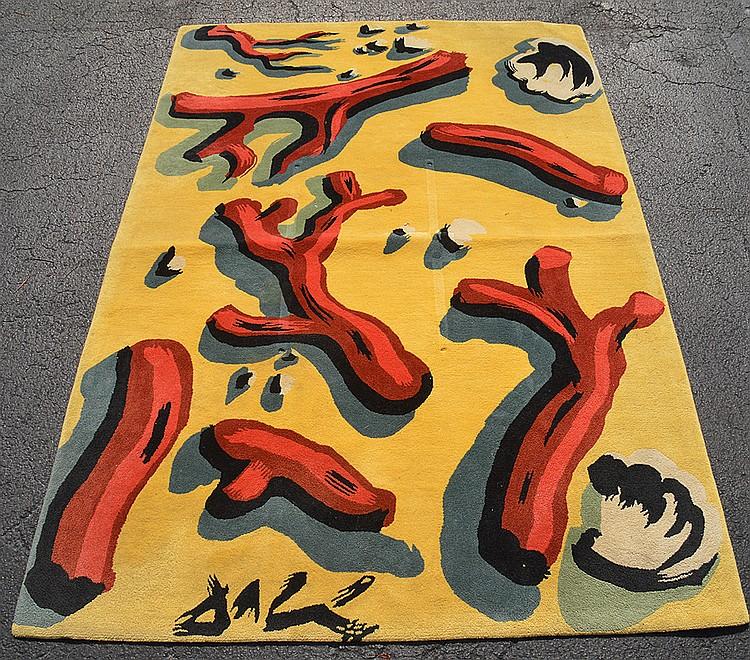 Salvador Dali designor carpet, 6' x 9'