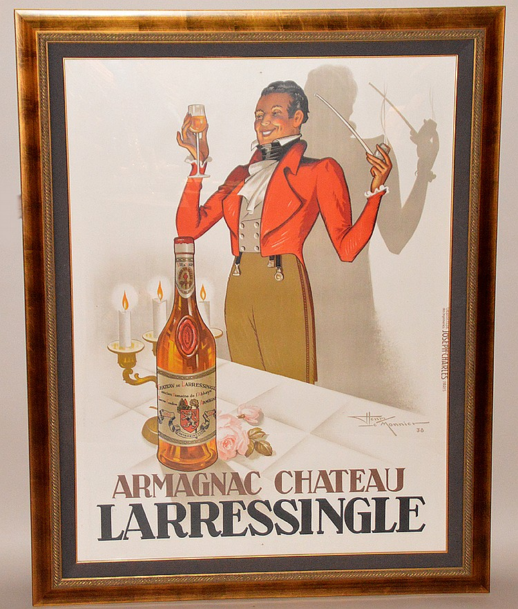 Henry le Monnier (FRENCH, 1893-1978) Armagnac Chateau Larressingle, Lithograph, 1938, Size Height 62.6 in.; Width 47.2 in. / Height 159 cm.; Width 120 cm.