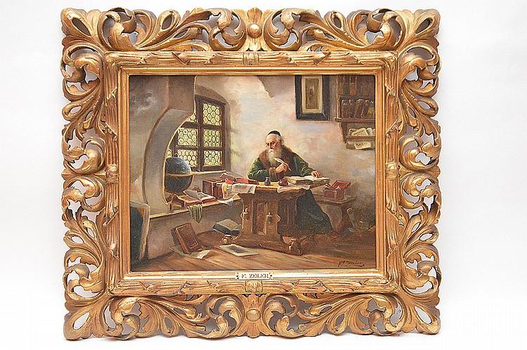 Franz Zeiler (AUSTRIAN, ) 19th Century oil on canvas, Scholor Painting, 12-1/4in. x 15-1/2