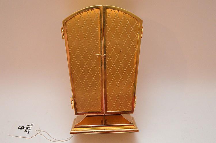 Agelus Brass Clock Barometer Thermometer & Hygro.  Ht. 6 1/2