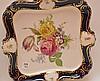 2 Pcs. Continental Porcelain.  1 Square Bavarian Platter 13 1/2