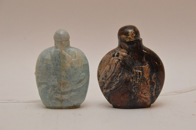 Chinese Carved Jade Snuff Bottle Ht. 2 3/8