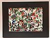 Etienne Roudenko (American/Russian, 1897-1987) abstract drop painting, oil on masonite signed Etienne Roudenko (lower left), 7-1/2 x 10-1/4 inches.