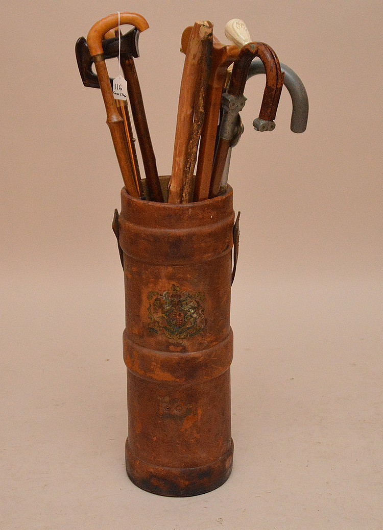 Leather Umbrella Stand/ Can Holder (Ht. 24