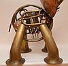 French Brass Horn Elephant Sculpture. Ht. 29
