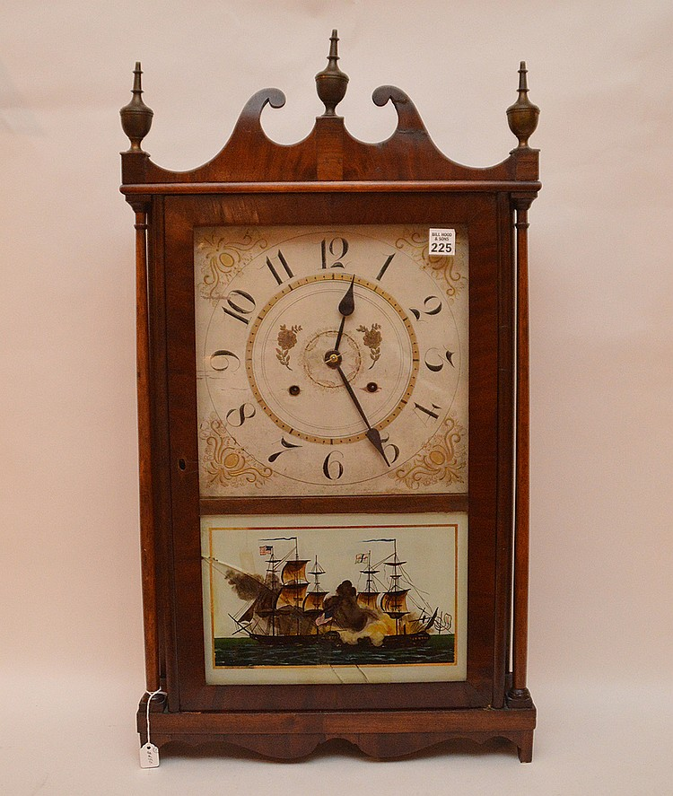 19th c. American pillar and scroll mantle clock, 30