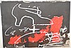 Antoni Tàpies (SPANISH, 1923-2012) Mixed Media Abstract, 12in. x 16-1/2in.