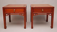 Pair contemporary night/end tables, 22