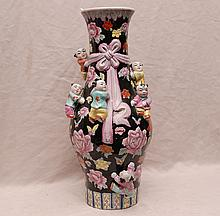 Old Chinese porcelain vase with 7 applied