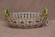 Herend reticulated basket,