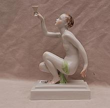 Herend nude holding cup, 9