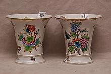 Pair Herend cache pots,
