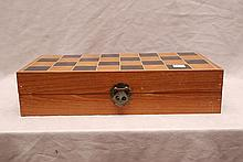 Ivory chess set in original wood box, figures 2