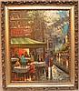 Henri Renard  (France 19/20th century) oil on canvas, Paris Café Scene, 24