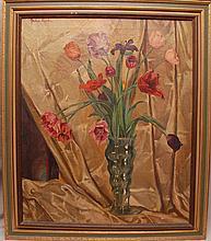 American School early 20th Century oil on canvas, Still Life by John Koch, signed upper left, 30-3/4