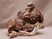 Boehm porcelain American Bald Eagle #400-49, Young & Spirited 1976, 9