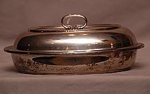 Fisher sterling covered vegetable serving bowl, 19ozt, 9 1/2