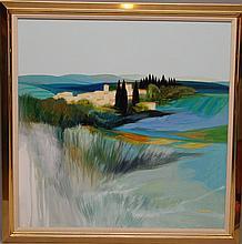 French School signed Lemeret, oil on canvas, Landscape
