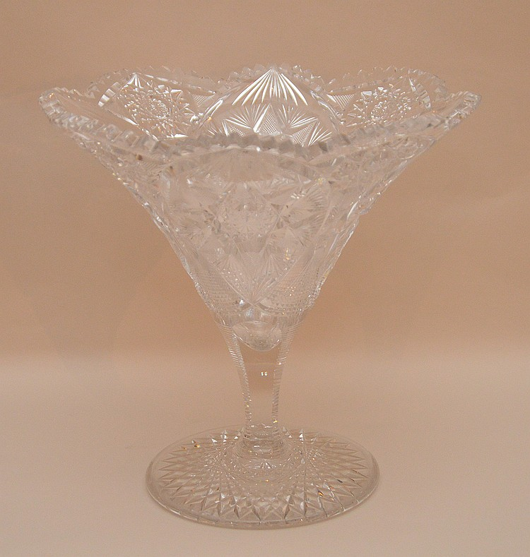 Fine american brilliant cut glass compote 9 1 4 h How can i cut glass at home