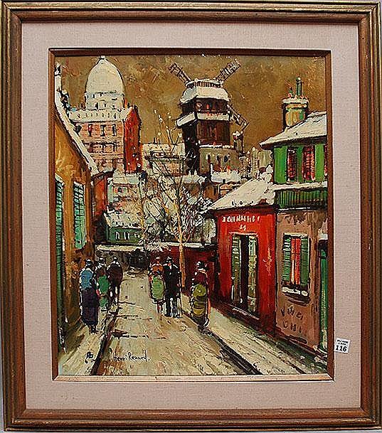 Henri Renard, 19th c, Paris, France, oil on